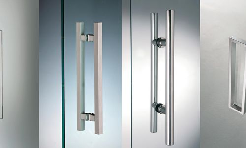 Handles for glass doors