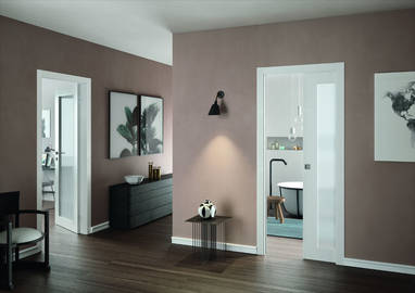 Comfort Luce is available both as a swinging or a sliding door