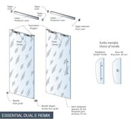 Sliding glass door for Essential Dual and Remix