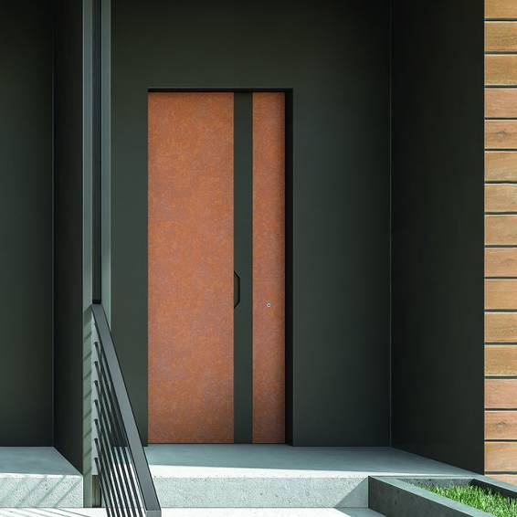 Estense, the burglar-proof door with perfect planarity between the door post and wall