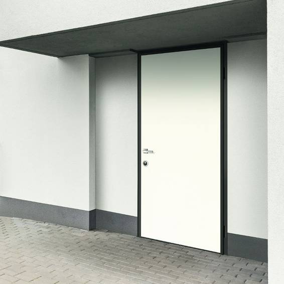 Security door with pull open system