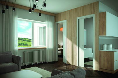 Door frames for interior sliding doors Pratico