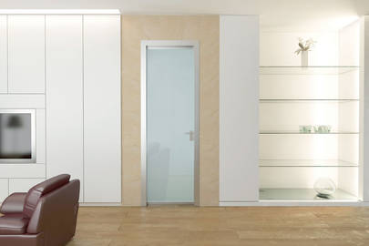Eletta glass swing door by Scrigno
