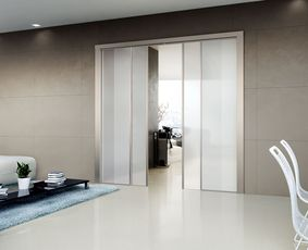Lorica glass sliding door